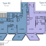Sky Habitat Floor Plans :: 1 + Study & 2 Bedroom Units
