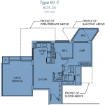Sky Habitat Floor Plan :: 2 Bedroom Unit
