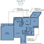 Sky Habitat Floor Plan :: 2 Bedroom Unit