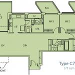 Sky Habitat Floor Plans :: 3 Bedroom Terrace Unit