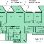 Sky Habitat Floor Plan :: 4 Bedroom Unit