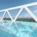 Sky Habitat Showflat :: 38th Floor Sky Bridge Lap Pool
